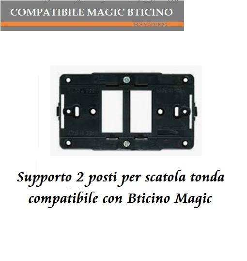 SUPPORTO 5 POSTI COMPATIBILE CON BTICINO MAGIC