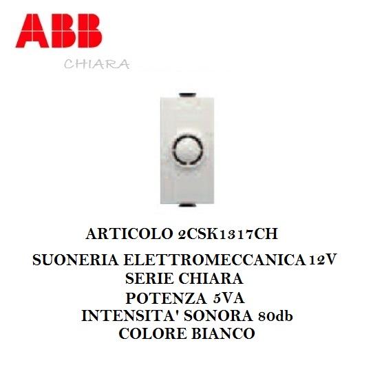 ABB 2CSK1317CH SUONERIA 12V CHIARA