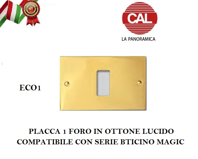 COPRINTERRUTTORE MAGIC IN OTTONE LUCIDO FORO 3