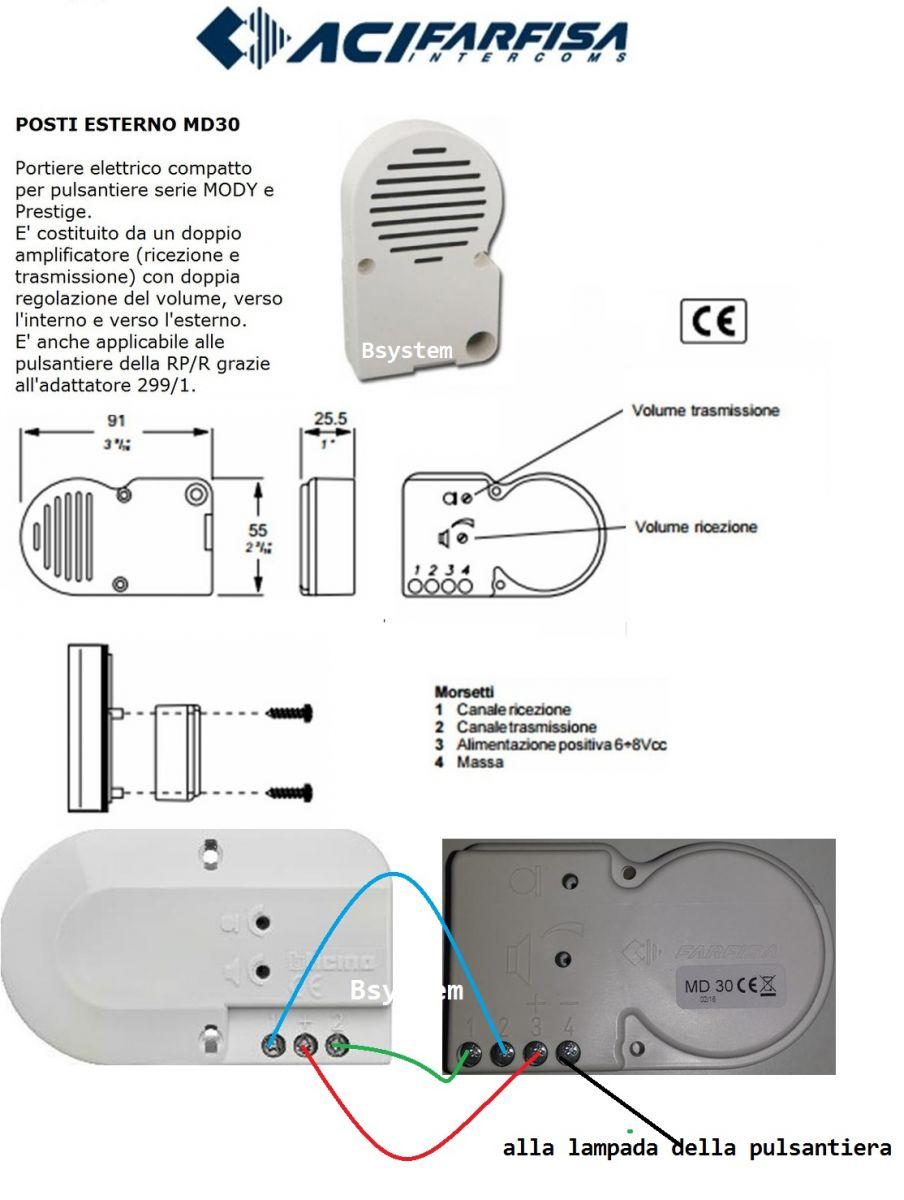 Schemi Elettrici Citofoni Elvox : N compatibile bticino lt terraneo garantito farfisa md
